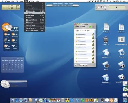 tampilan antar muka sistem operasi mac os x