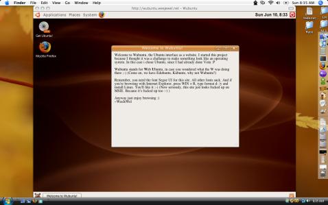 tampilan antar muka sistem operasi ubuntu