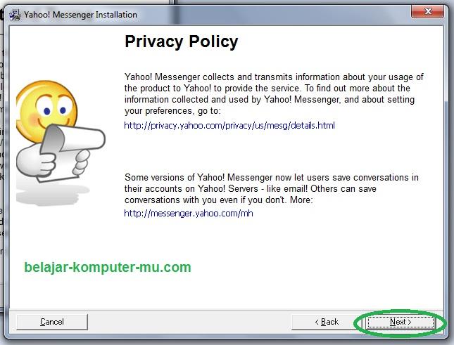 cara instal aplikasi chatting yahoo messenger di komputer atau laptop