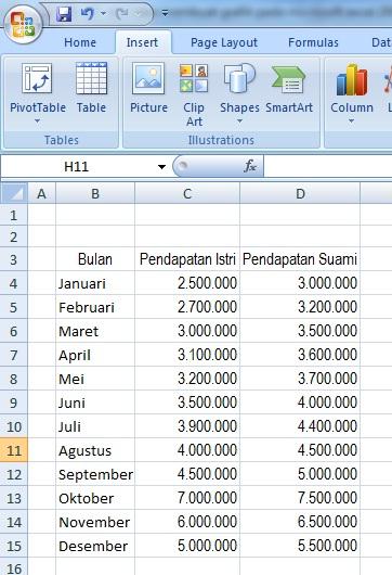 Cara membuat grafik pada microsoft excel 2007 panduan lengkap cara membuat grafik pada microsoft excel 2007 ccuart Image collections