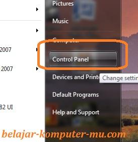 masuk menu control panel