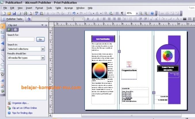 Cara Membuat Brosur Menggunakan Microsoft Office Publisher 2007
