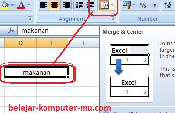 Cara Membuat Format Alignment Worksheet Microsoft Excel 2003 2007 2