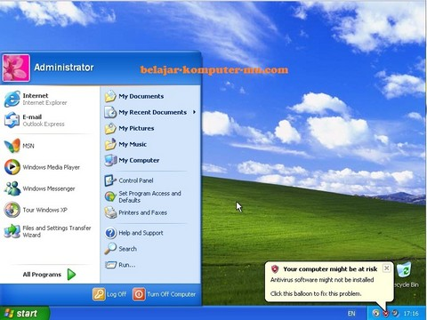 gambar windows xp berhasil terinstal
