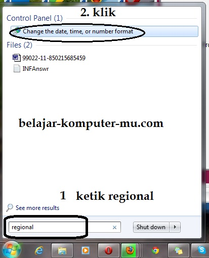 cara mengganti setting angka indonesia excel windows 7