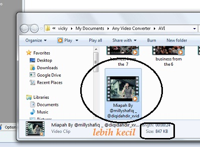 cara mengecilkan ukuran file video 4