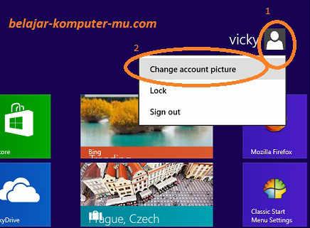 cara memasang foto profil windows 8