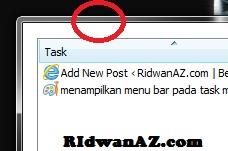 menampilkan menu bar pada task manager yang hilang