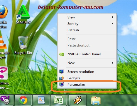 Cara Mengganti Wallpaper Background Windows 7 Seven Belajar Komputer Mu