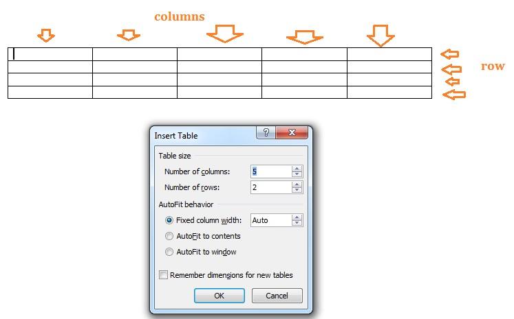 cara bikin tabel di microsoft word 2013