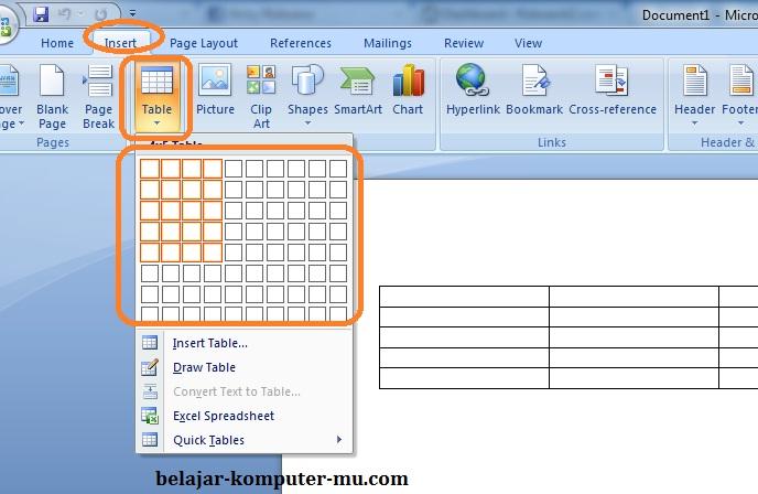 bagaimana cara membuat background di microsoft word 2007